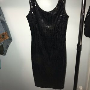 Vintage sequined dress with suit jacket